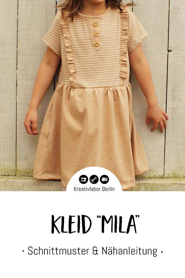 "Schnittmuster & Nähanleitung Kleid ""Mila"""