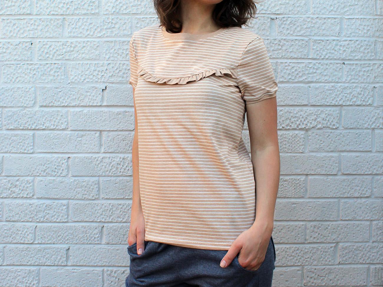 """Shirt """"Marla"""" mit Rüschen nähen"""