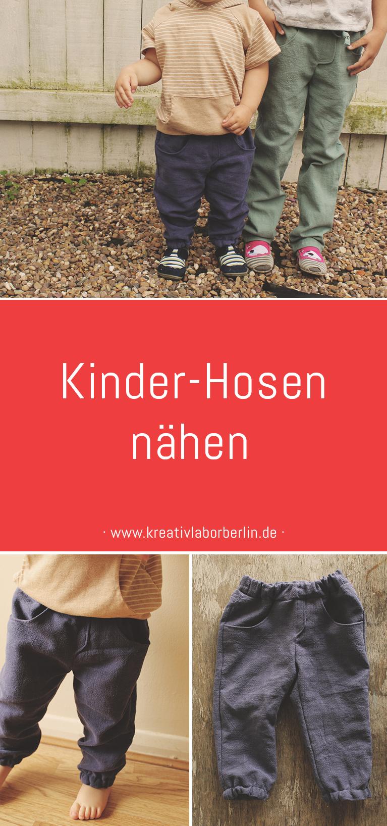 """Unsere Kinderhosen """"Alvin"""" - ganz minimalistisch aus Naturstoffen"""