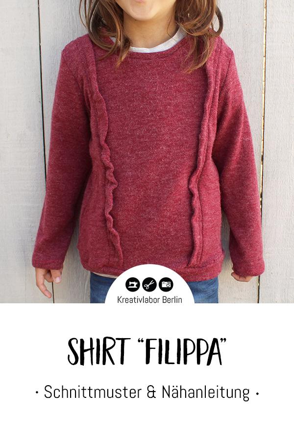 "Schnittmuster & Nähanleitung Kinder-Shirt ""Filippa"""