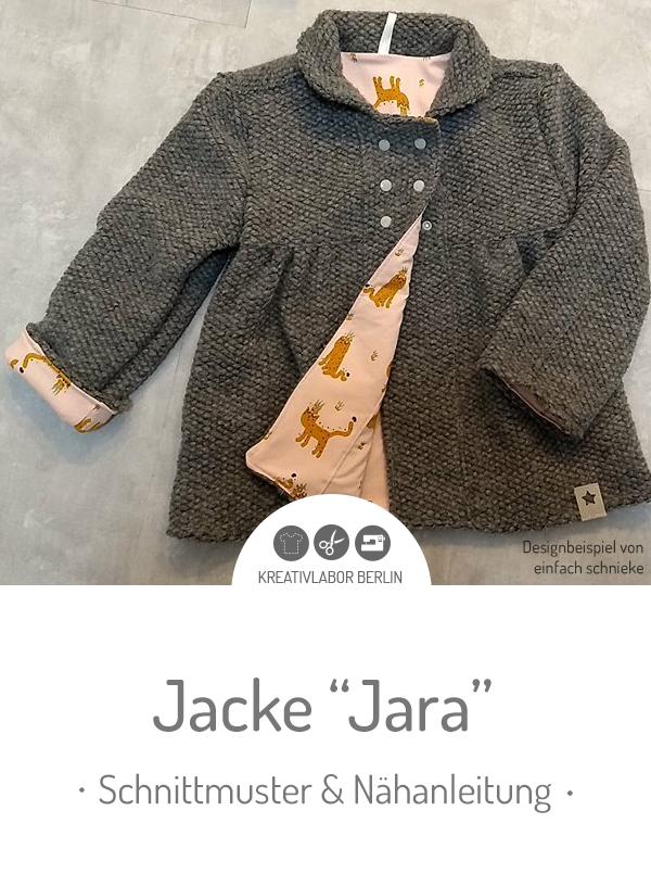 "Schnittmuster & Nähanleitung Kinder-Jacke ""Jara & Jaro"""