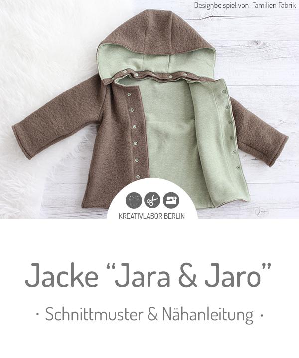 """Kinder-Jacke """"Jara & Jaro"""" genäht von Familienfabrik"""