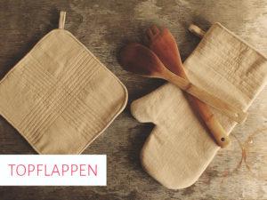 Topflappen und Ofenhandschuh