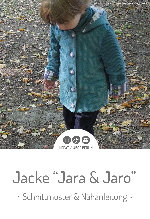 "Schnittmuster & Nähanleitung zur Kinder-Jacke ""Jara & Jaro"""