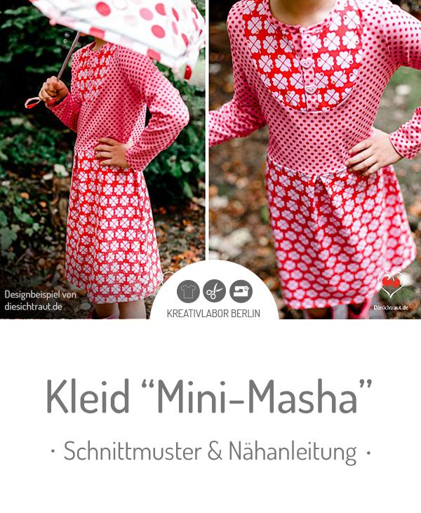 "Schnittmuster & Nähanleitung für das Kinderkleid ""Mini-Masha"""