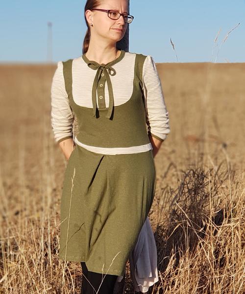 """Schnittmuster Kleid """"Masha"""" aus Siebenblau-Stoffen genäht von BumBees"""