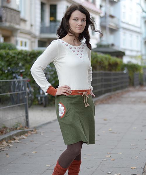 """Kleid """"Noa"""" genäht aus Siebenblau-Stoffen von Kleine Schneiderin"""