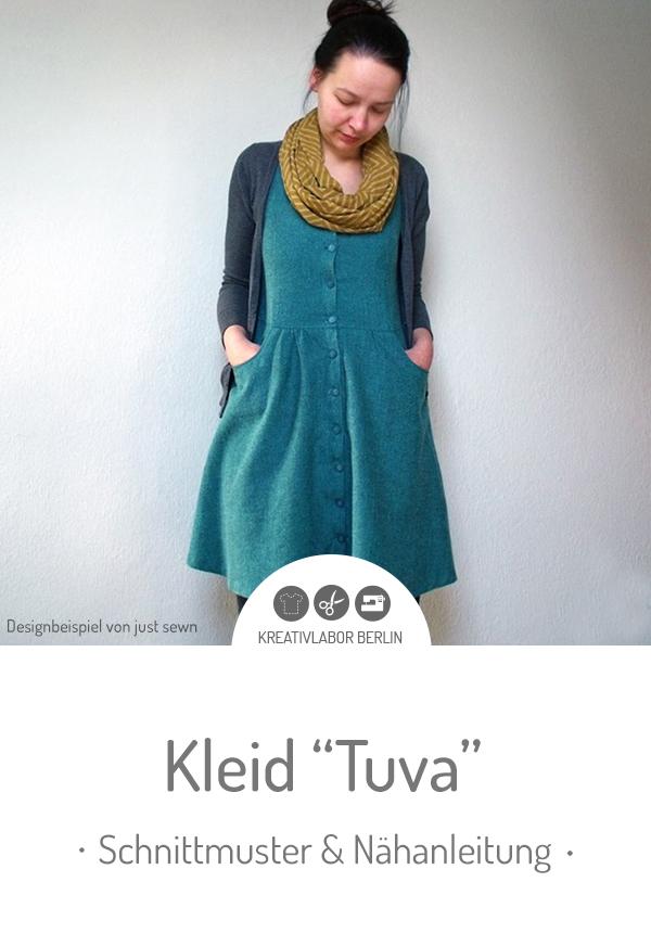 """Schnittmuster & Nähanleitung für das Kleid """"Tuva"""" #schnittmuster #kleid #nähen #frauen #webware #sommerkleid #knopfleiste"""