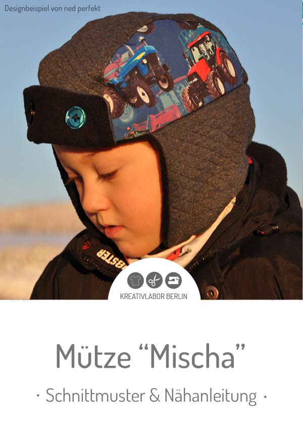 """Schnittmuster & Nähanleitung für die Fliegermütze """"Mischa"""" für Kinder & Erwachsene #schnittmuster #nähen #mütze #kinder #winter #damen #frauen #kreativlaborberlin"""
