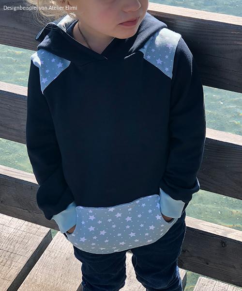 """Pullover """"Peer"""" genäht aus Siebenblau-Stoffen von Atelier Elimi"""
