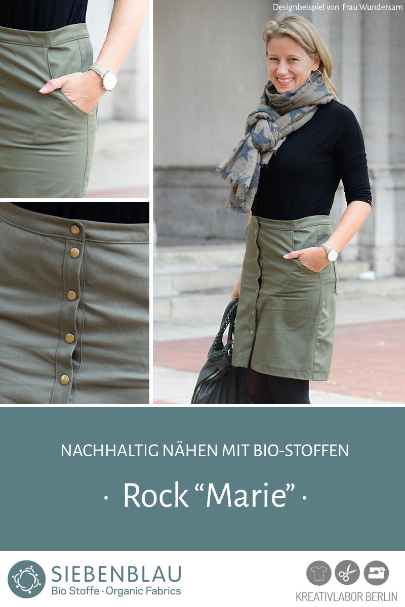 """Rock """"Marie"""" genäht aus Siebenblau-Stoffen von Frau Wundersam"""
