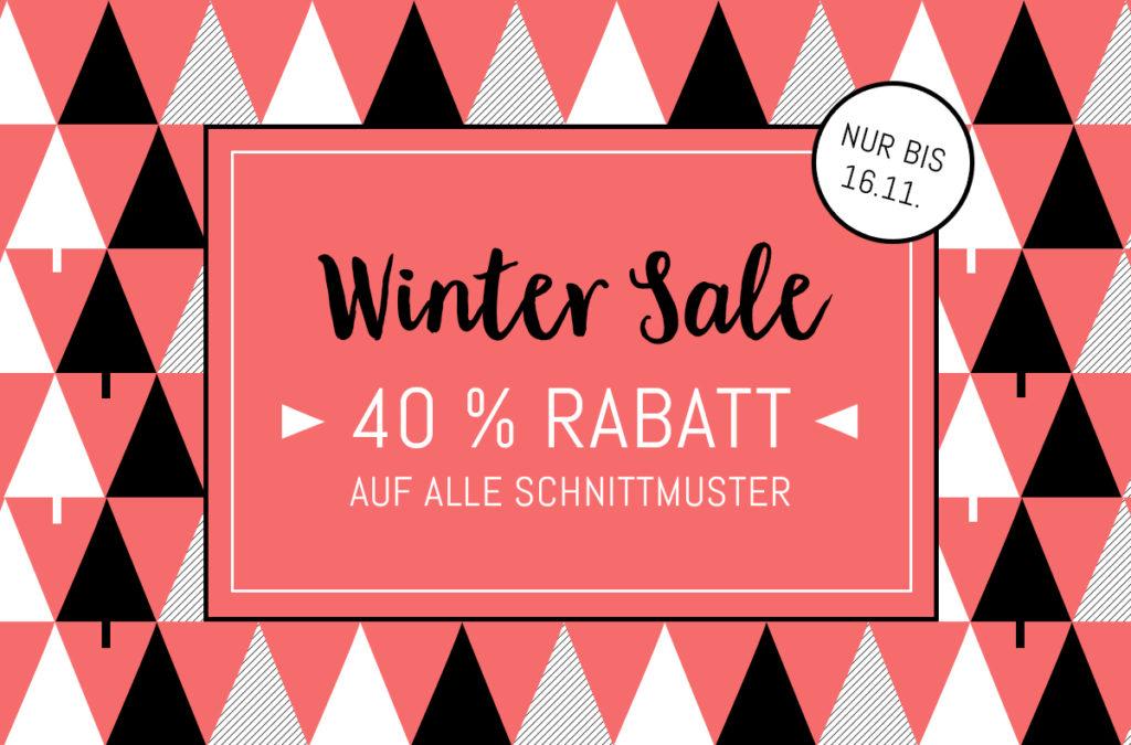 Der große Winter-Sale: 40% Rabatt auf alle Schnittmuster