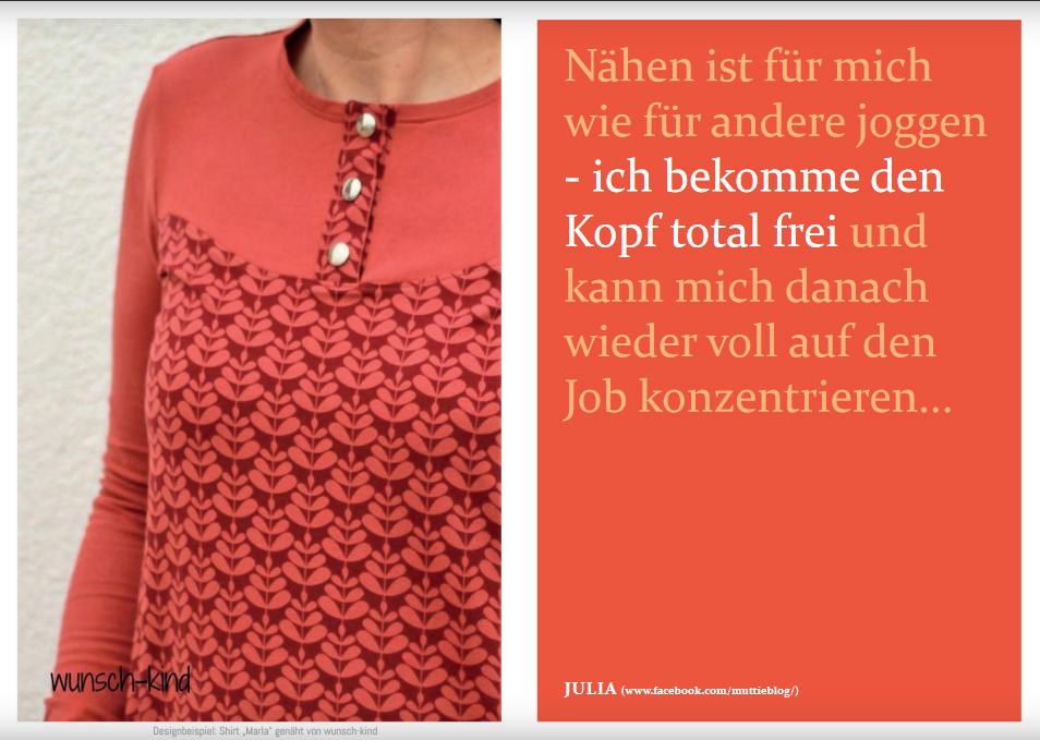 """Schnittmuster & Nähanleitung zum Shirt """"Marla"""""""