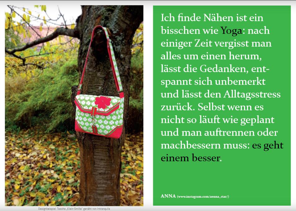 """Schnittmuster & Nähanleitung für (Kamera)-Tasche """"Klein-Smilla"""""""