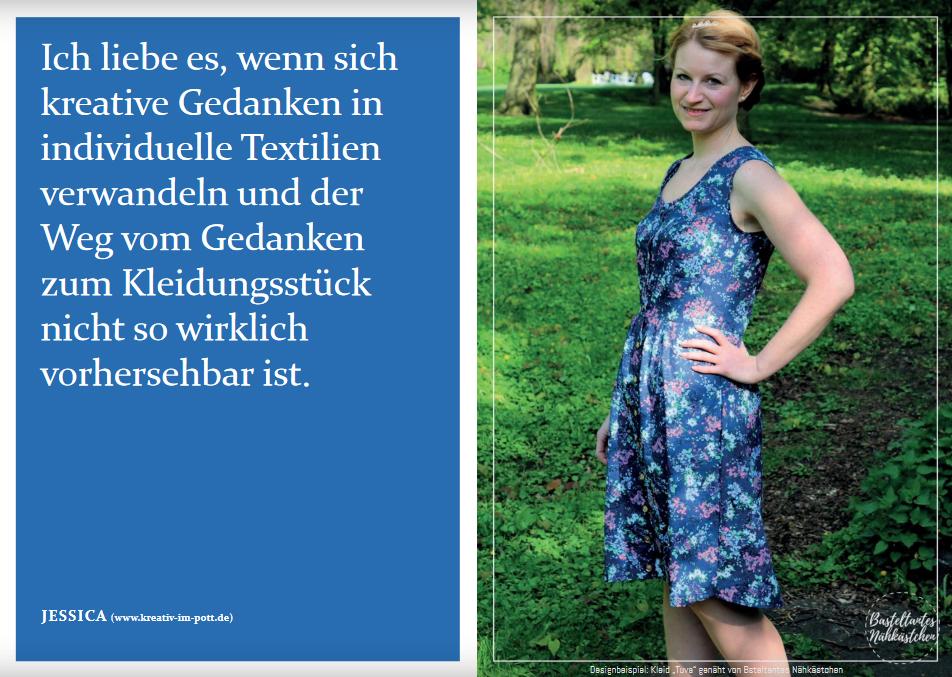 """Schnittmuster & Nähanleitung für das Kleid """"Tuva"""""""