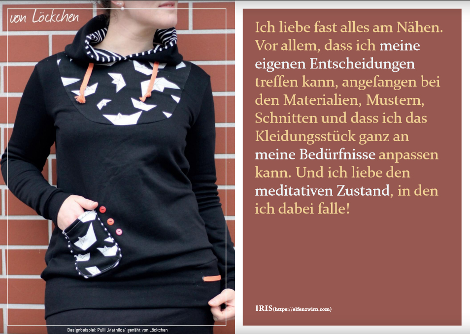 """Schnitmuster & Nähanleitung für das Shirt """"Mathilda"""" (kann auch als Kleid genäht werden)"""