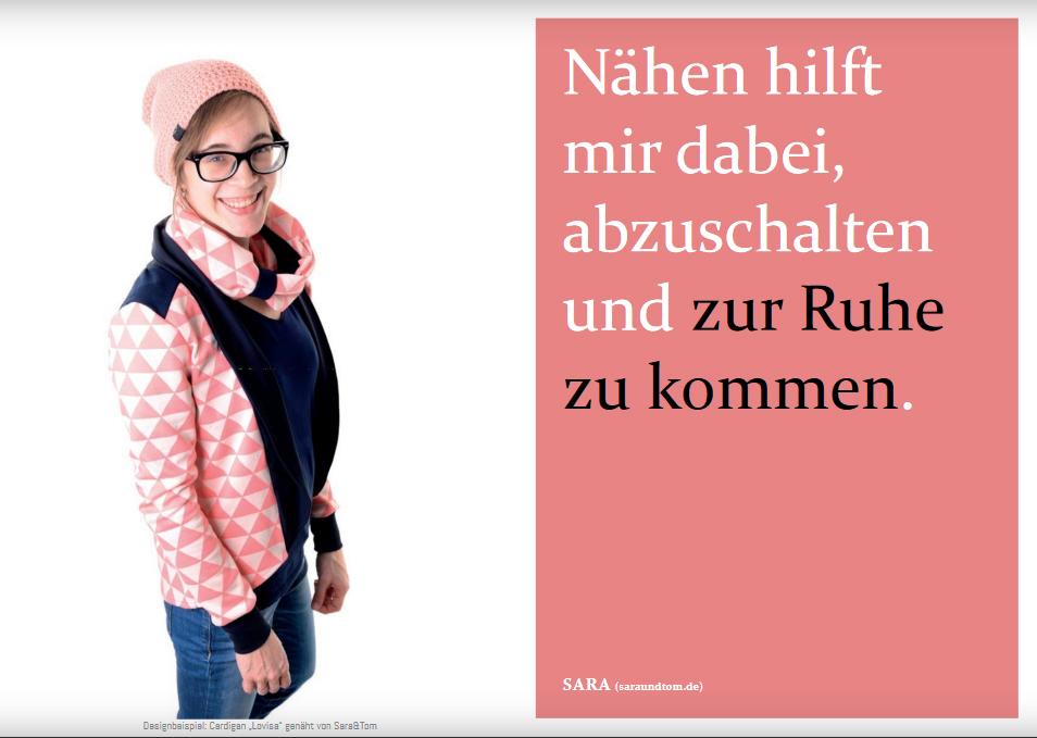"Schnittmuster & Nähanleitung für den Cardigan ""Lovisa"""