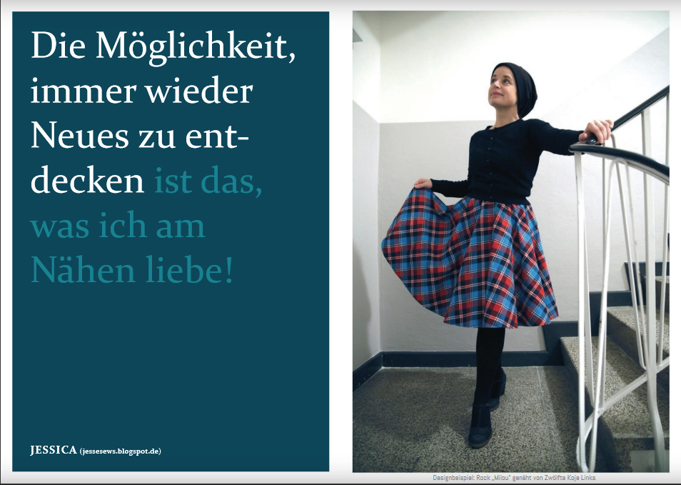 "Schnittmuster & Nähanleitung für den Rock ""Milou"""
