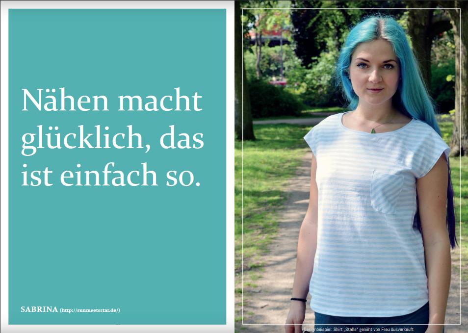 """Schnittmuster & Nähanleitung zum Shirt """"Stella"""""""