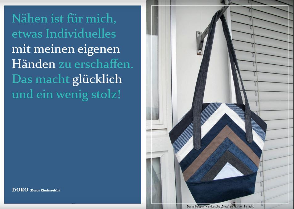 """Schnittmuster & Nähanleitung für die Tasche """"Greta"""""""