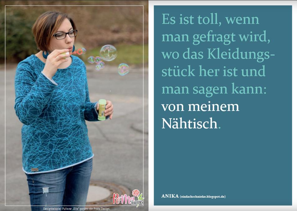 "Schnittmuster & Nähanleitung zum Pullover ""Ella"""