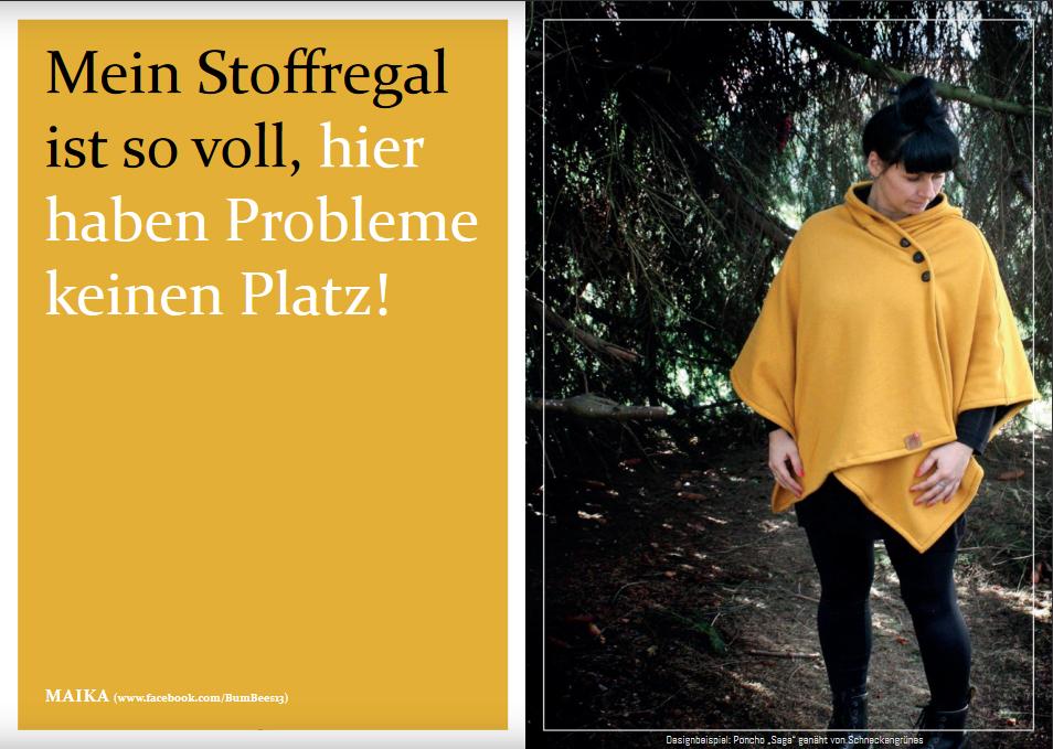 """Schnittmuster & Nähanleitung zum Poncho """"Saga"""""""