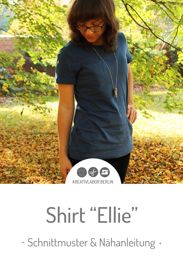 """Schnittmuster & Nähanleitung für das Shirt """"Ellie"""""""