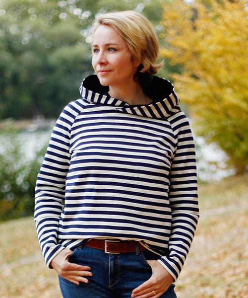 "Schnittmuster Shirt ""Elina"" aus Siebenblau-Stoffen genäht von MaKaMo näht"