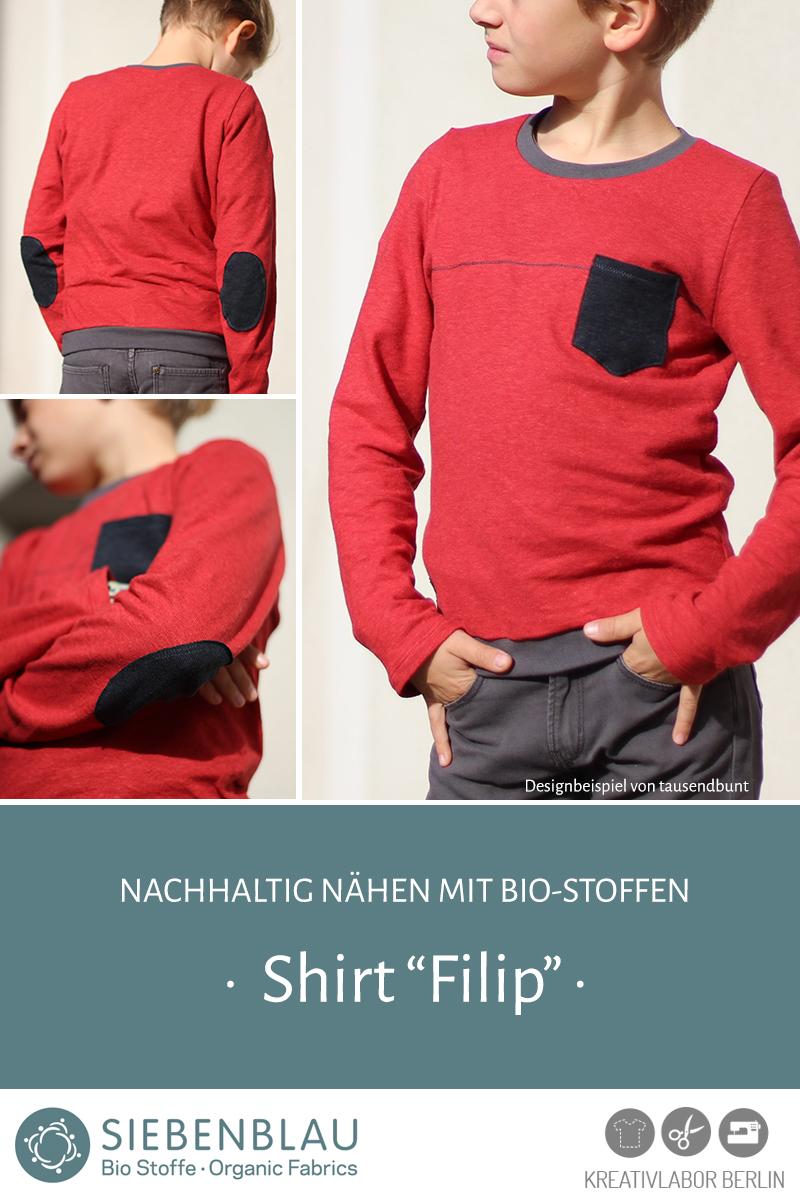 """Schnittmuster & Nähanleitung Shirt """"Filip"""""""