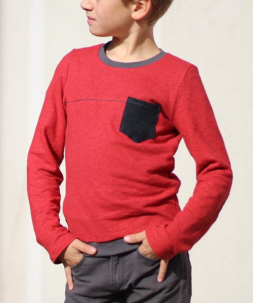 """Shirt """"Filip"""" genäht aus Siebenblau-Stoffen von tausendbunt"""