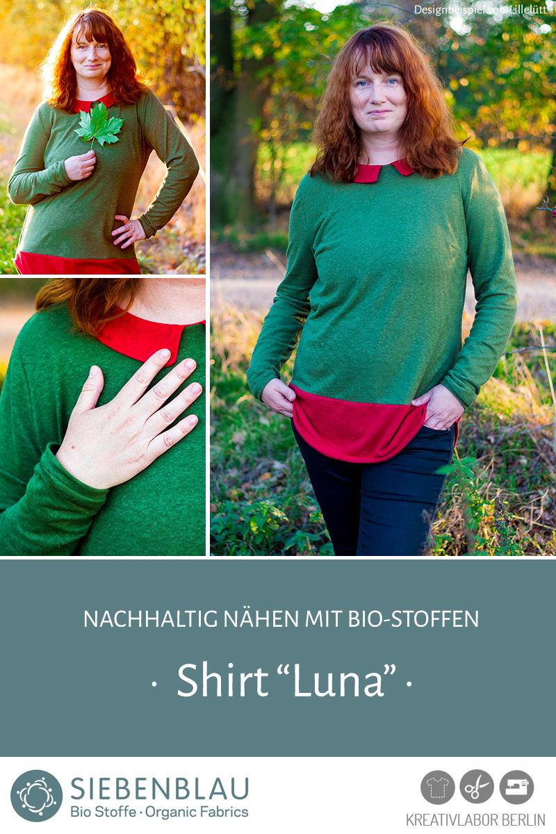 """Schnittmuster & Nähanleitung Shirt """"Luna"""""""