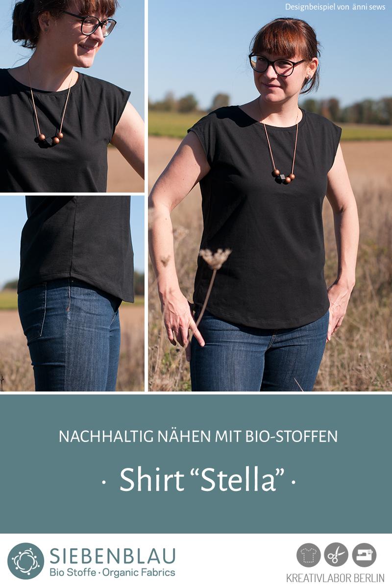 """Schnittmuster & Nähanleitung Shirt """"Stella"""""""
