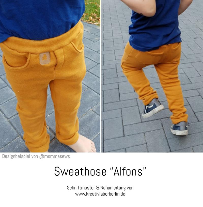 "Schnittmuster & Nähanleitung Sweathose ""Alfons"", genäht von @mommasews"