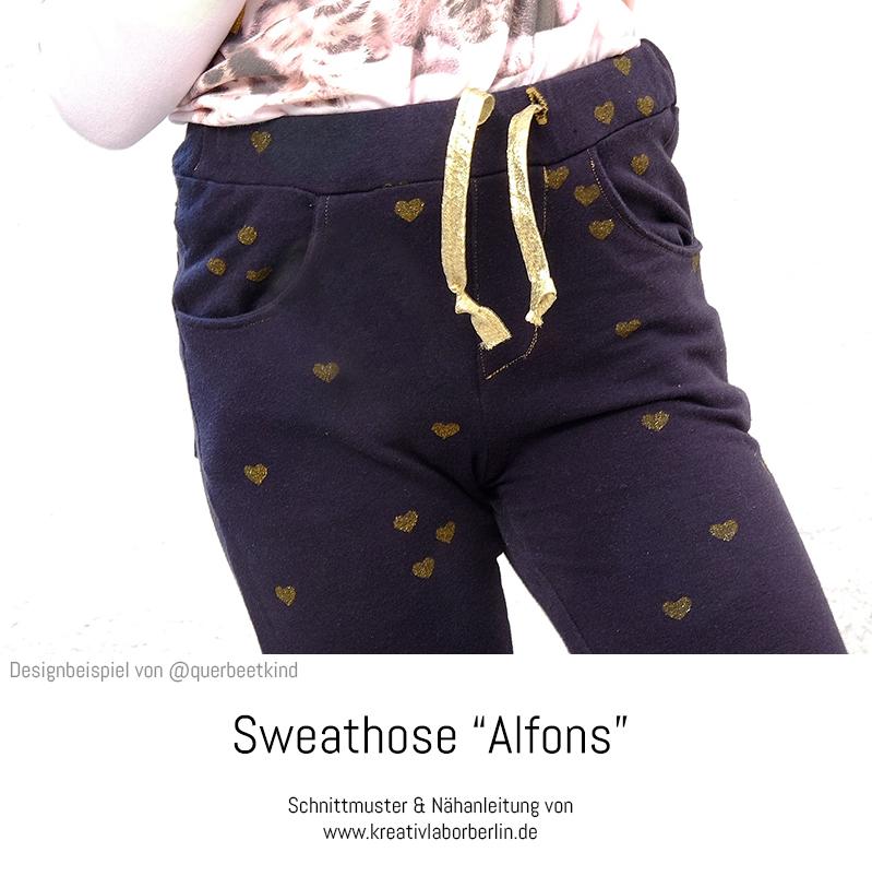 """Schnittmuster & Nähanleitung Sweathose """"Alfons"""", genäht von @querbeetkind"""