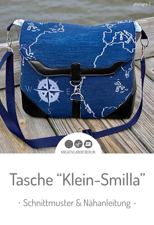 """Schnittmuster & Nähanleitung (Kamera)-Tasche """"Klein-Smilla"""""""