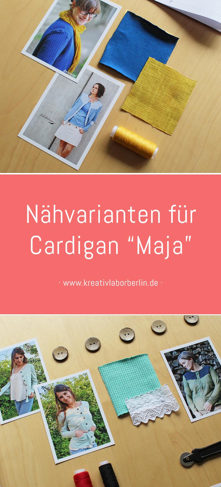 """Nähvarianten & Inspirationen für Cardigan """"Maja"""""""