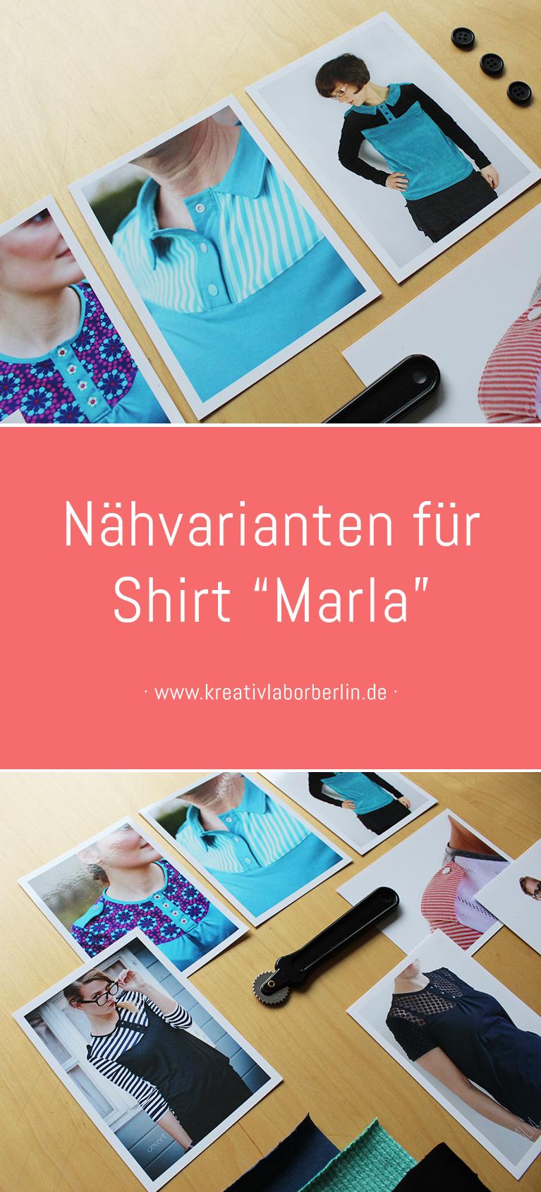 "Nähvarianten & Inspirationen für Shirt ""Marla"""