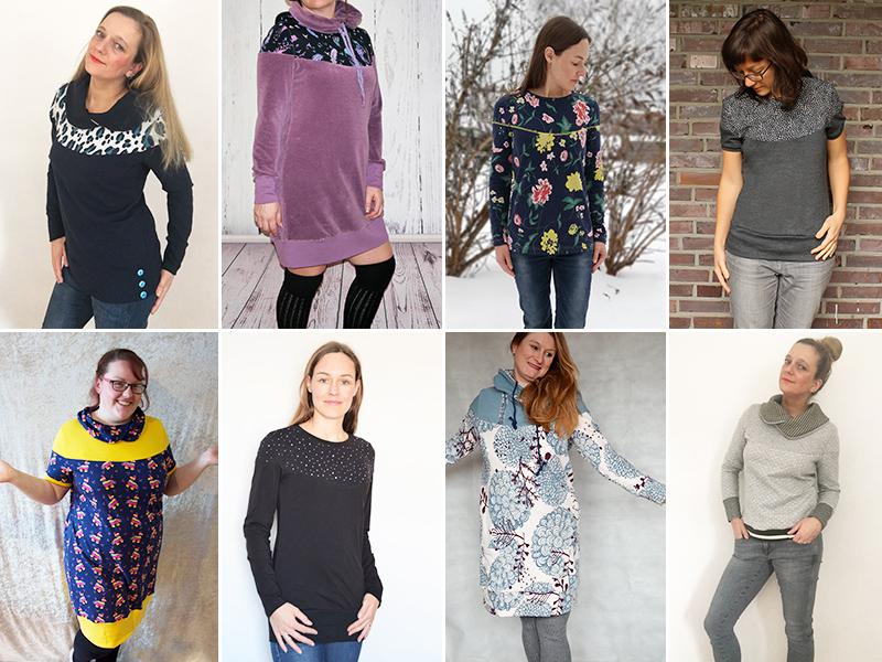 """Neues Schnittmuster: Kleid, Pullover & Shirt """"Edda"""""""