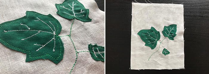 Nähanleitung: Waschsäckchen für Efeu-Blätter