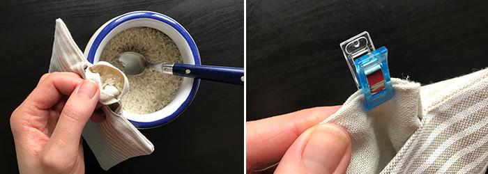 Nähanleitung: Wärmekissen mit Reisfüllung