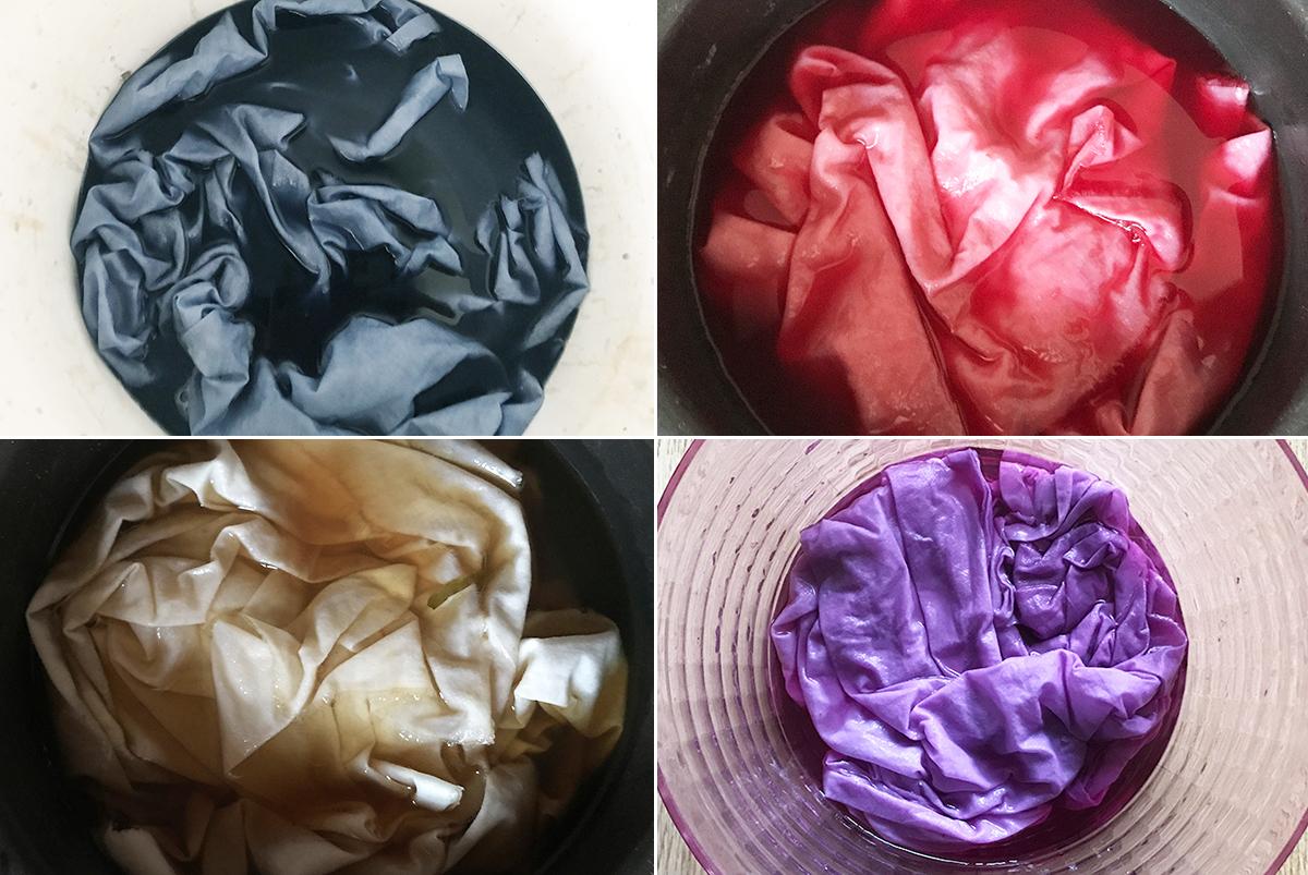 Stoffe mit natürlichen Materialien färben