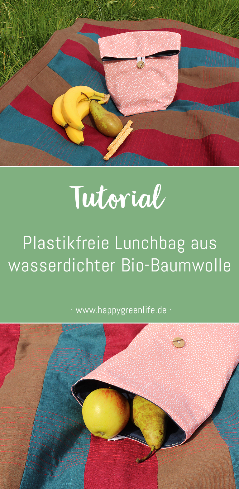 Nähanleitung: Plastikfreie Lunchbag aus wasserdichter Bio-Baumwolle