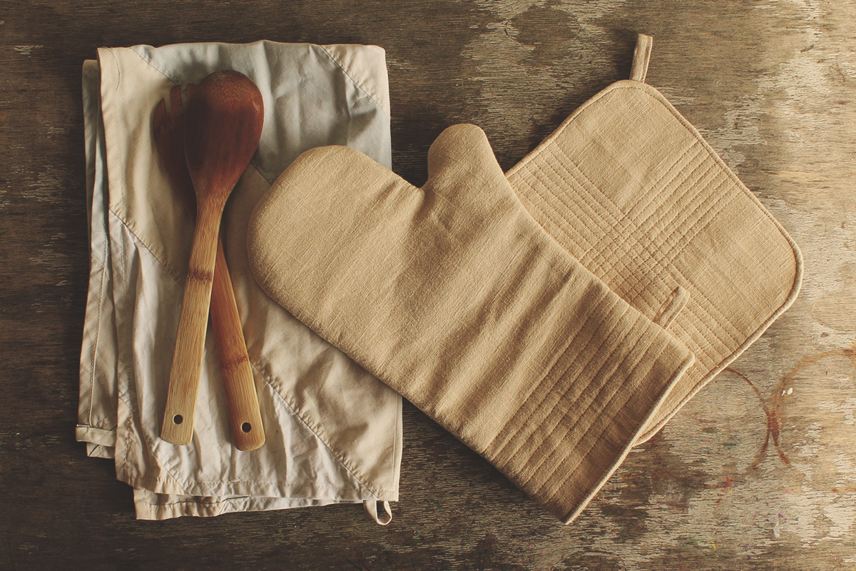 Nähanleitung Topflappen und Ofenhandschuhe selbst nähen