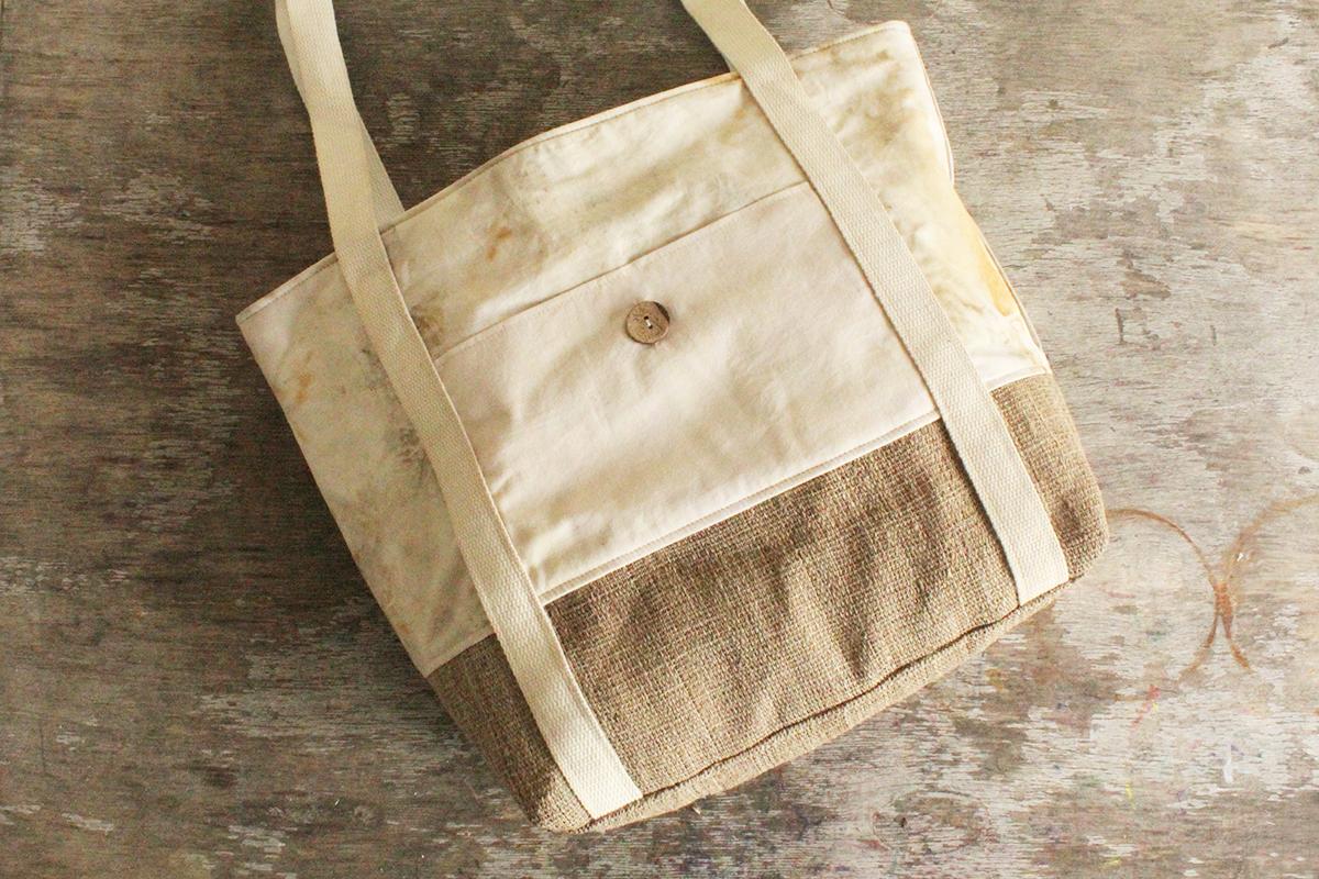 Taschen aus Brennnesselstoff nähen