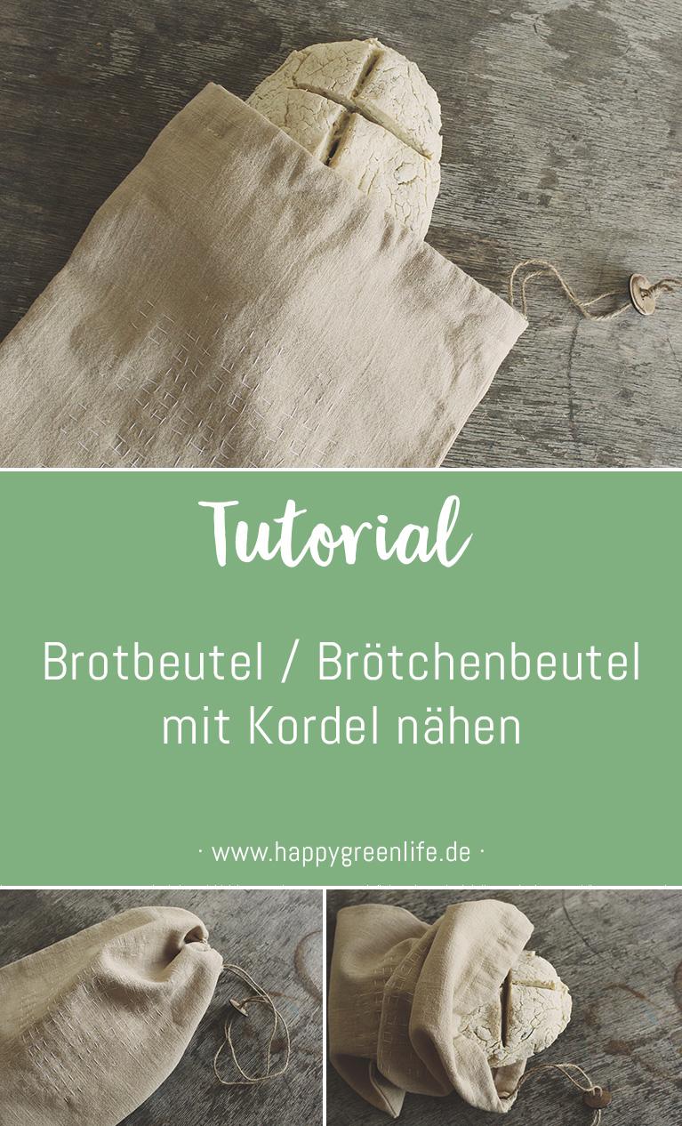 Nähanleitung: Brotbeutel / Brötchenbeutel mit Kordel